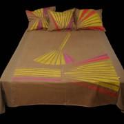 Ágytakaró, lenvászon - 3 párnával